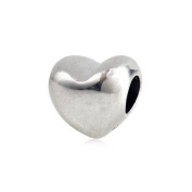 European Style Sterling Silver Heart Beads