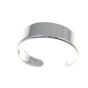 Sterling Silver 925 Adjustable Band Toe Ring