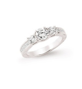 Silver Cubic Zirconia Micro Pave Fashion Ring