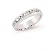 Silver Round CZ Full Eternity Ring