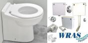 Bambi Nursery Children's Junior Kids WC Back To Wall BTW Short Projection Pan Low Level Toilet Inc Ring Seat Concealed Cistern