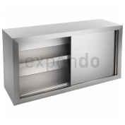 Royal Catering - RCHC-120/40 - Professional Wall Cabinet - 120 x 40 cm (LxW) - with two sliding doors - fittings included