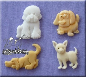 Dogs- 3D Silicone Cake Decorating Moulds Ideal for decorating Cupcakes and that special Cake for a Animal/dog fan From Bake and Create