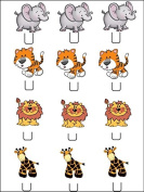 12x Zoo Animal STAND UPS PREMIUM RICE PAPER Edible Cake Toppers