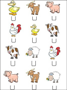 12x Farm Animal STAND UPS PREMIUM RICE PAPER Edible Cake Toppers