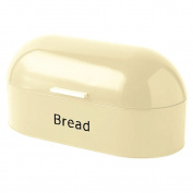 Home Discount Steel Retro Bread Bin Kitchen Food Storage Box, Cream.