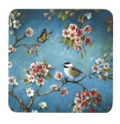 Inspire BCH281890 Luxury Spring Blossom Coasters, 10.5 x 10.5cm, Hardboard, Blue/Pink, Set of 4