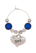 Dad Wine Glass Charm Handmade by Libby's Market Place