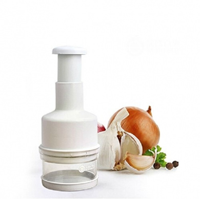 Plastic Manual Vegetable Onion Garlic Chopper Kitchaid Stainless Steel Blade Pressing Food Chopper Cutter Slicer [ 1pc ]
