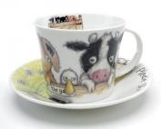 Roy Kirkham Please Shut the Gate 'Farm' Breakfast Cup & Saucer in Fine Bone China