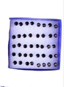 TR.OD Wholesale 20 Pairs Crystal Rhinestone Round Earrings Ear Studs Pin Clip With Clear Storage Display Box Black
