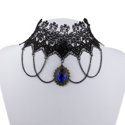 Vintage Handmade Gothic Steampunk Lace Flower Choker Necklace Jewellery