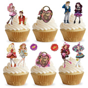 36 Stand Up Ever After High Edible Wafer Paper Cake Toppers Decorations