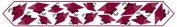 Printed Grad Cap Table Runner (maroon) Party Accessory (1 count) (1/Pkg) by The Beistle Company