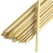 100pcs Orange Wooden Stick for Nail Art and Cuticle Pushed Back or Removed