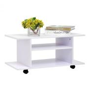 Homcom Modern TV Cabinet Stand Storage Shelves Table Mobile Bedroom Furniture Bookshelf Bookcase New