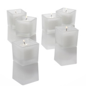 Set of 72 Square Votive Candle Holder, Frosted Glass