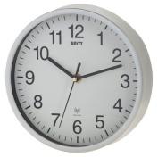 Unity Radcliffe Radio Controlled Wall Clock, Silver