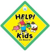 Help Kids on Board Car Sign, Baby on Board, Baby on Board Sign, Kid's on Board, Children On Board, Bumper Sticker