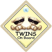 Twins On Board, Twins On Board Car Sign, Twins On Board Sign, Brown Shades, baby on board, Baby Car Sign, Baby on Board Car Signs, Twins Car Sign, Twins On Board Car Signs, Baby Car Safety Signs