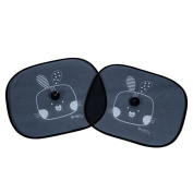 Redkite Folding Sunshades 2 Pack Sun Shades - Cotton Tail Rabbit Design - Black ...