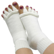 Soft And Fluffy Toe Alignment Socks Toe Dividers Separator for Tired Feet/ Painful / Bunions / Cramps