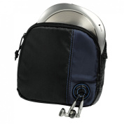Hama CD Player Bag for CD Player and 3 CDs - Black/Blue