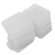 20 Pcs Transparent Plastic Standard SD SDHC Memory Card Case Holder Box Storage