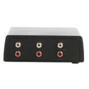 Cables 4 ALL 2 Port Twin RCA (Phono) Audio Switch - Manual Switching
