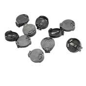 Tenflyer Pack of 10 Portable CR2032 CR2025 General Button Battery Clip Holder Box Case