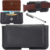 Urvoix(TM) Premium Leather Belt Clip & Loops Holster Pouch Case Cover with Credit Card Holder for iPhone 6 Plus