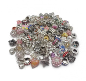 Job Lot Wholesale 100 x Charms Beads For Pandora Style Silver Charm Bracelets Jewellery Making