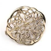 Celtic Bronze Brooch jewellery Ø 3cm cloak pin