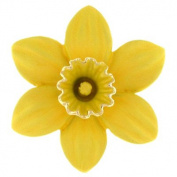 Brooches Store Large Gold Plated & Matt Yellow Enamel Daffodil Flower Brooch