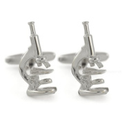Scientific Microscope Shaped Cufflinks in Gift Box