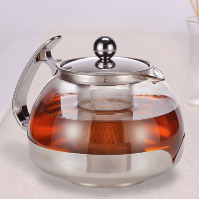 Large 1.2 Ltr Glass Infusion Teapot Tea Pot Infuser Contemporary Kitchen Design