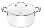Lagostina Accademia Bianca 011830031024 Stew Pot with Lid Diameter 24 cm