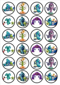 Monsters Inc/University Edible PREMIUM THICKNESS SWEETENED VANILLA,Wafer Rice Paper Cupcake Toppers/Decorations