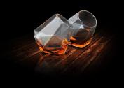 Thumbsup 1272 Diamond Borosilicate Glass Whisky Glass, Set of 2, Clear
