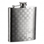 SAVAGE 18/8 Stainless Steel 240ml Hip Flask with Mat Engraving Design Mirror Finished RMF-42