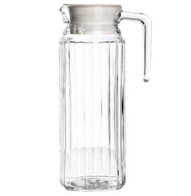 New Large 1L Ravenhead Kitchen Fridge Glass Pitcher Water Milk Juice 1 Litre Jug & Lid