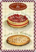 FRENCH VINTAGE METAL SIGN 30x20cm PASTRY AMBIANCE CAKES PIE