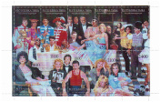 Hollywood stars at a party - Mint and never mounted stamp sheet