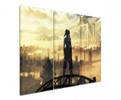 Picture - ART ON CANVAS PRINT The_Legend_of_Korra 3 parts ( 120cm x 90cm ) Pictures completely framed on large frame. Art print Images realised as wall picture on real wooden framework. A canvas picture is much less expensive than an oil painting pos ..