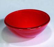 Round Red Glass Wash Basin Designer Bowl Bathroom Counter Work Top Sink Vanity Modern 420
