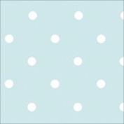 THE TABLECLOTH SHOP Duck Egg Polka Dot Vinyl Table Cover Tablecloth 2.5 Metres
