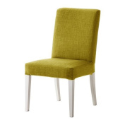 Lime Green Replacement Slip Cover for Ikea Henriksdal Dining Chairs in Linen Effect Fabric