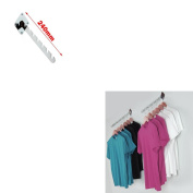 NEW WALL MOUNTED FIXING 7 NOTCHED WATERFALL ARM FOR RETAIL CLOTHES DISPLAY