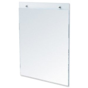 Wall Sign Holder Pre Drilled Portrait A4 Clear
