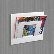 Wall Mounted Magazine Newspaper Rack Single Tier by The Metal House